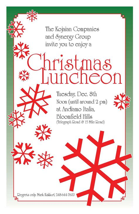 wording for employee holiday luncheon invite luncheon a photo on flickriver