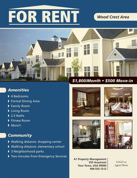 house rental flyer template rental property flyer template stackerx info