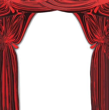 red curtain vector red stage curtain design vector graphic free vectors
