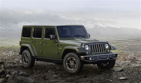 The Wrangler jeep grand wk2 75th anniversary edition jeeps