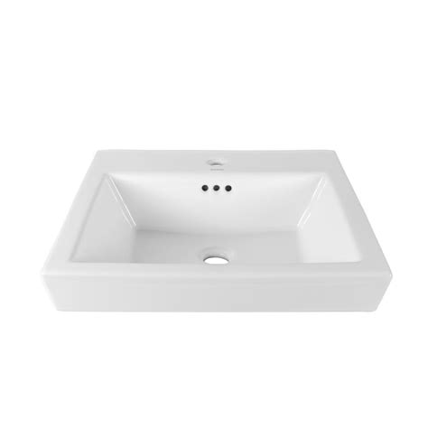 kohler square vessel sink ronbow essentials square tapered self ceramic
