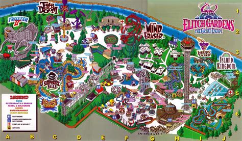 Elitch Gardens Theme Park by Theme Park Brochures Elitch Gardens Theme Park Brochures