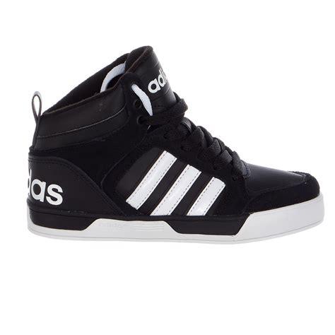 aw mens adidas neo raleigh tis mid black red white