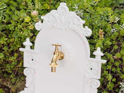garten waschbecken waschbecken wandbrunnen wein garten alu weiss antik stil