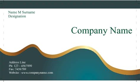 design background name card business card single side