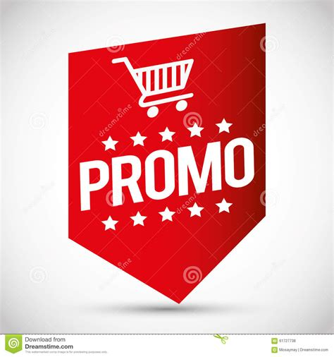 Promo Colorfull 1 shopping promo colorful label tag stock illustration