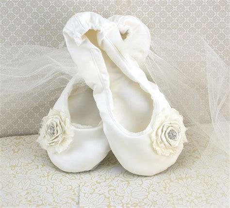ivory slippers wedding bridal flats ballerina slippers in ivory satin with ivory
