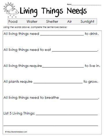 1 Grade Science Worksheets by 28 Best Images About Living Non Living On