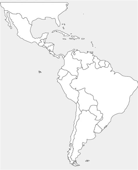 map outline of central america south american countries and capitals blank www pixshark