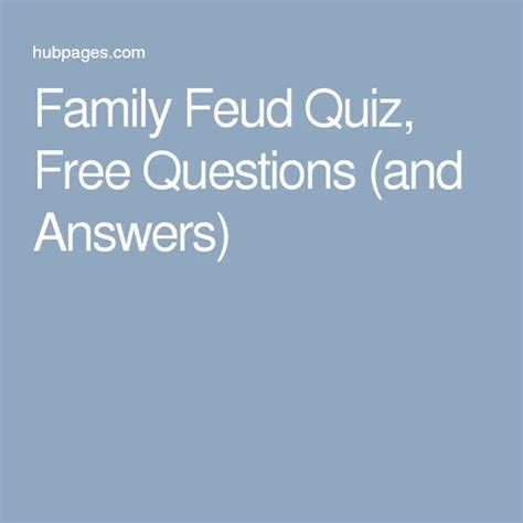 family feud quiz free questions and answers question and answer quizes