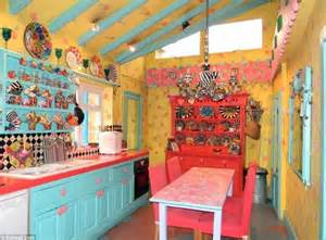 Dollhouse Chandelier Alice In Wonderland Cottage In Eye Popping Colours On