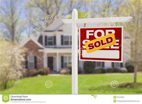 house and notebook royalty free stock photos image 25910908 sold home for sale sign in front of new house stock image