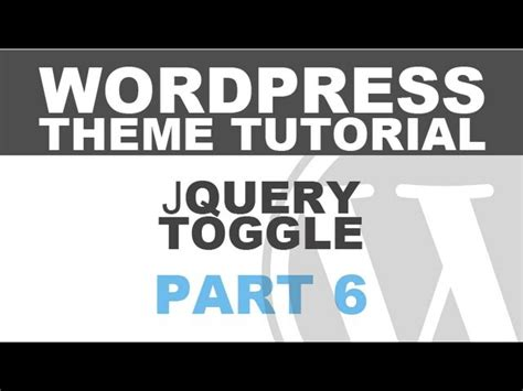 Tutorial Jquery Toggle | responsive wordpress theme tutorial part 6 jquery