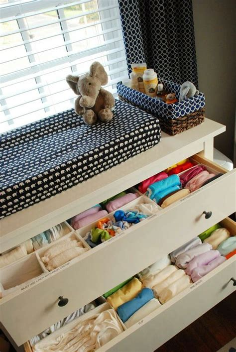 baby dresser organization ideas 35 cute yet practical nursery organization ideas digsdigs