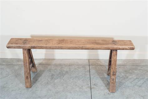 narrow bench narrow country bench at 1stdibs