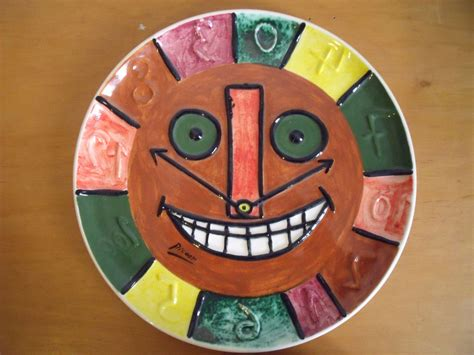 picasso paintings clock pablo picasso ceramic clock plate angry