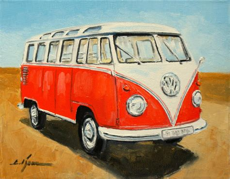 volkswagen painting vw transporter t1 painting by luke karcz