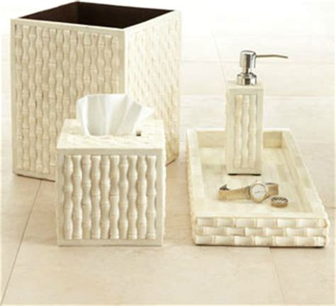 Modern Bamboo Bathroom Accessories Quot Bamboo Quot Vanity Accessories Modern Bathroom