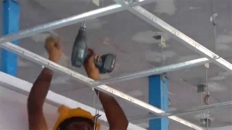 Drop Ceiling Installation Youtube Winda 7 Furniture How To Install A Suspended Ceiling