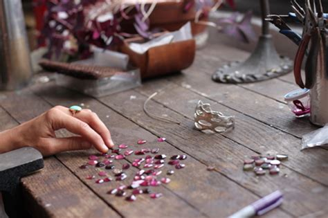 work at home jewelry a jewelry designer in fills home with vintage