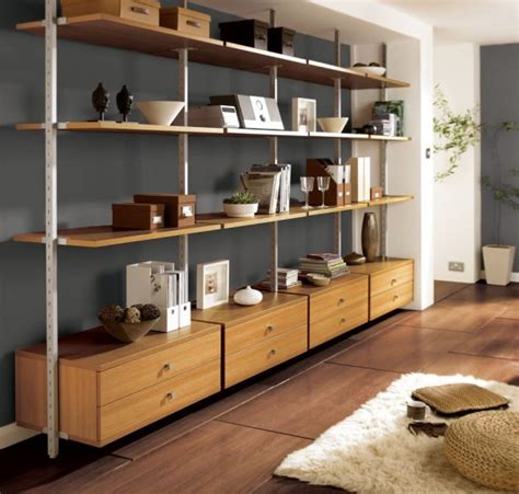 Shelving Furniture Living Room Beautiful Living Room Shelves For Wooden Wall Mounted Shelving Units With Drawer Cabinet And