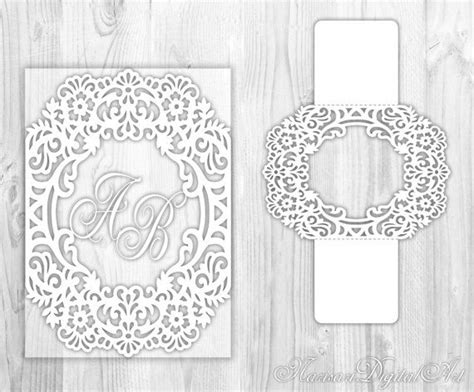 Silhouette Cameo Card Templates by 91 Best Images About Laser Cut Wedding Invitations On