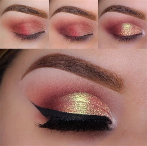 Eyeshadow Gold Tutorial cranberry spritzer photo tutorial culture gold