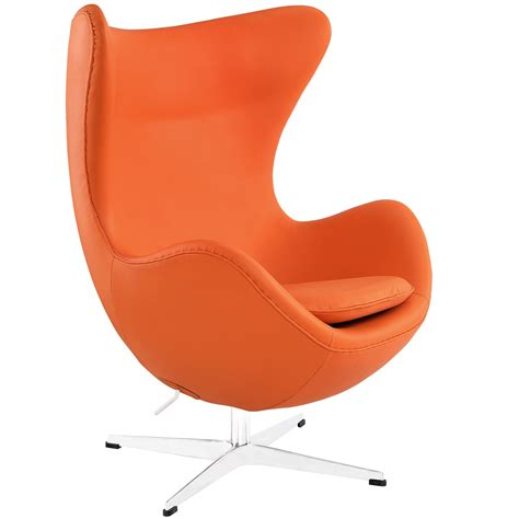 orange leather lounge chair modway glove leather lounge chair in orange beyond stores