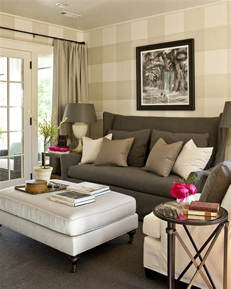 grey walls tan couch gray wingback sofa cottage living room southern living