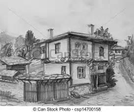 Simple Country House Plans Illustrations De Traditionnel Maison Bulgare Vieux
