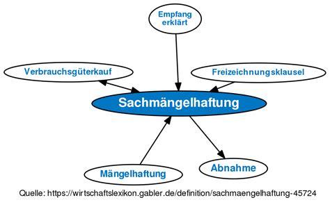 sachmaengelhaftung definition gabler wirtschaftslexikon
