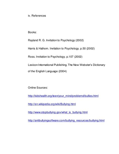 thesis abstract about bullying bullying psychology paper