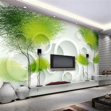 Wall Sticker Pohon Hijau 3d kualitas tinggi hijau pohon wallpaper beli murah hijau