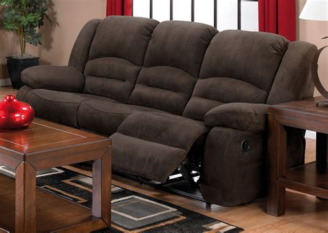 toreno cocoa padded microsuede reclining sofa the brick