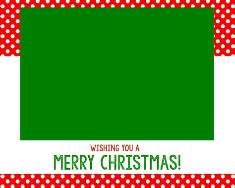 Free Christmas Card Templates Crazy Little Projects Card Template