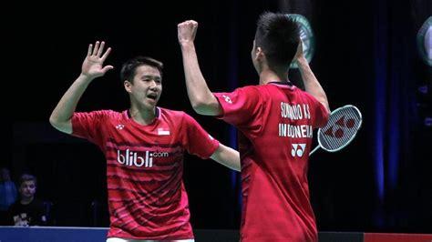 detiksport badminton kevin marcus lanjut ke semifinal badminton olahraga