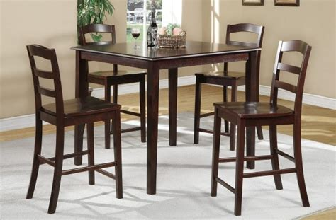 oak this dining room collection is a 5 pub style set