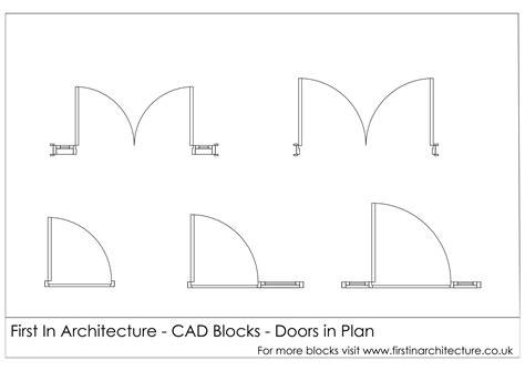 symbol for door on floor plan free cad blocks door elevationsplans in architecture