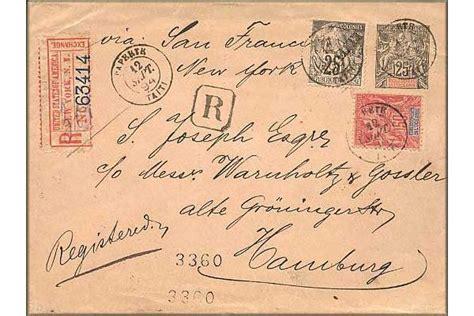 Présentation Lettre Recommandée Avec Ar Histoire Postale De Tahiti Polyn 233 Sie Fran 231 Aise Europe De La Poste Vers 1860