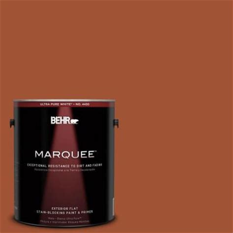 behr marquee 1 gal s h 230 ground nutmeg flat exterior paint 445301 the home depot