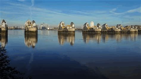 Thames Barrier Moving | raising the thames barrier imagesofnewzealand
