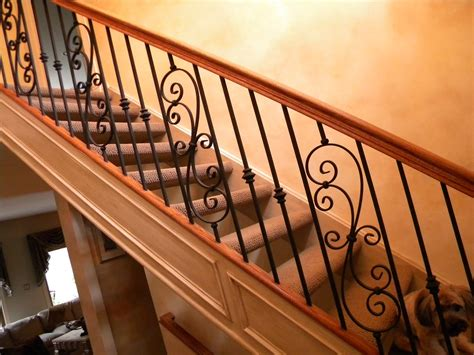 installing stair railing wood stairs and rails and iron