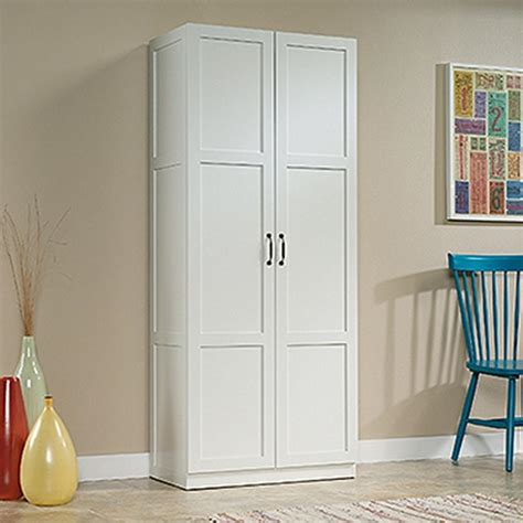 Sauder Cabinet With Doors Sauder Woodworking White Cabinet 419636 The Home Depot
