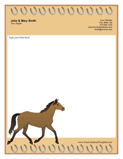 free printable horse stationery horse letterhead