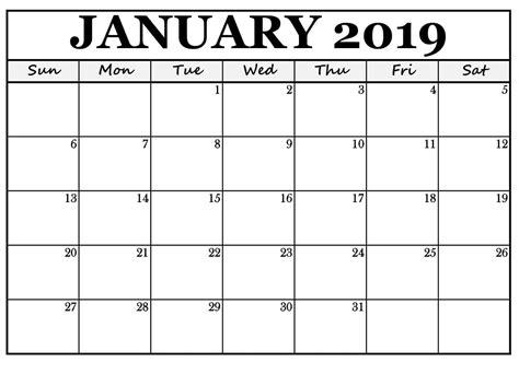 january printable calendar word printable