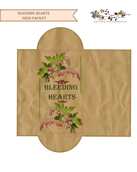 packet template card glenda s world seed envelope packets
