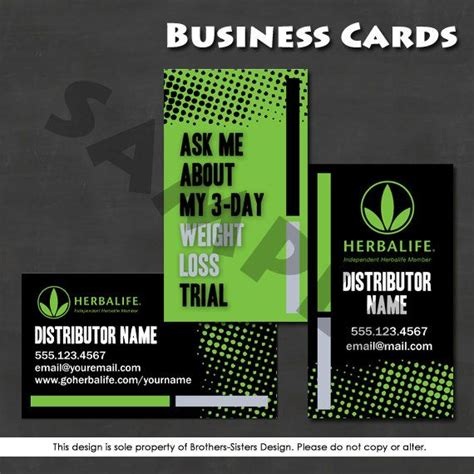 herbalife business cards templates uk free printable herbalife business cards images card