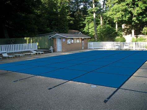 water warden 18 x 36 mesh pool safety cover in blue the