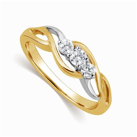 infinity design ring in two tone white and