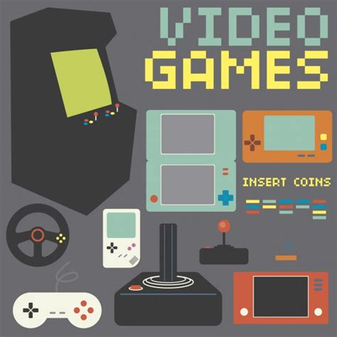 free download mod game vector retro game console collection vector free download